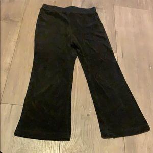 5t velour black pants
